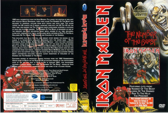 Dvd Iron Maiden Classic Albuns The Number Of The Beast