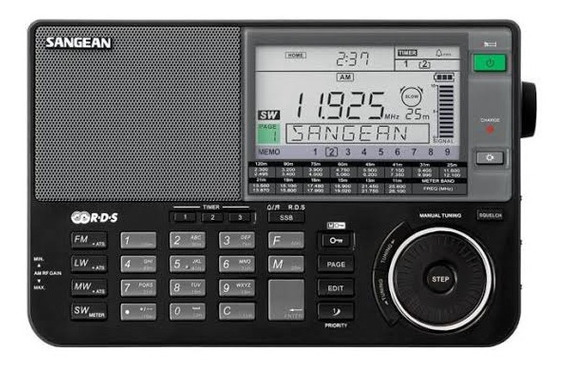 Rádio Receptor Sangean Ats-909x Am Fm Stéreo Lw Sw Preto