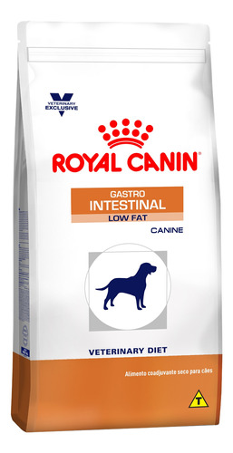 Ração Royal Canin Veterinary Diet Canine Gastrointestinal Low Fat para cachorro sabor mix em saco de 10.1kg