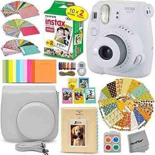 Fujifilm Instax Mini 9 Camara Instantanea Smokey White Mas E