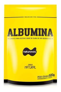 Albumina Naturovos 100%pura - 83% De Proteina Com Sabor