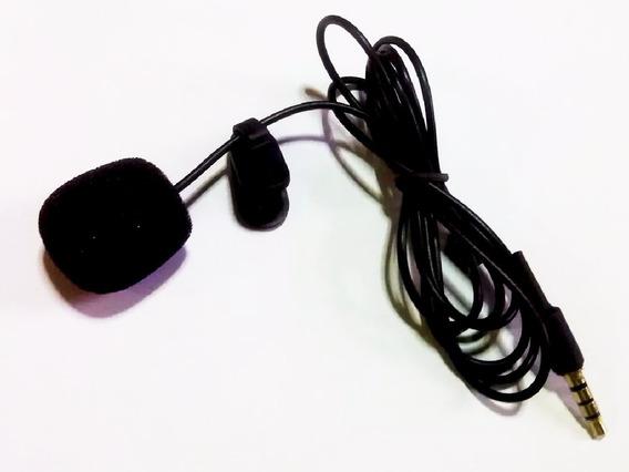 Microfone De Lapela Plug 3,5mm P3 P2 4 Polos Ctia Celular