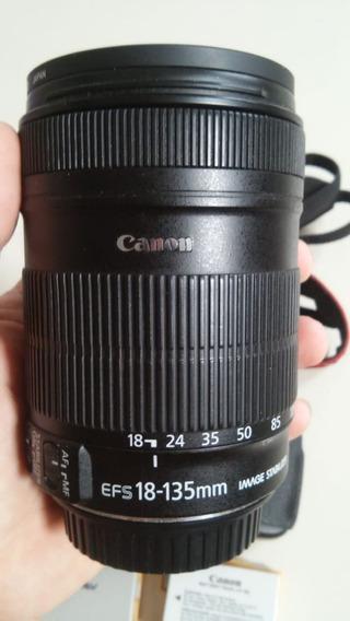 Canon T3i Com Lente 18-135 Com Duas Baterias