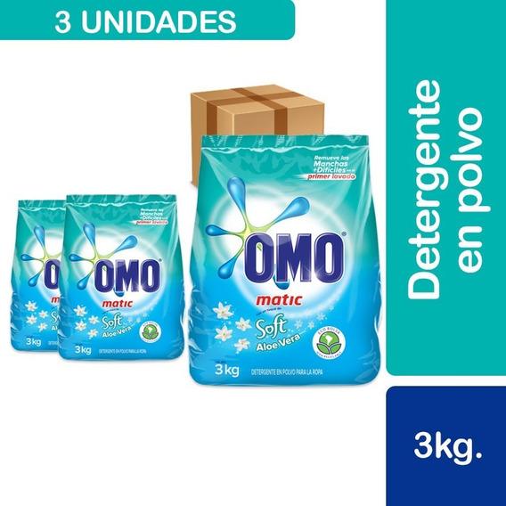 3 Detergentes Omo Con Un Toque De Soft Aloe Vera Bolsa 3kg