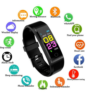 Relógio Inteligente Zapet Monitor Cardíaco, Pressão Arterial