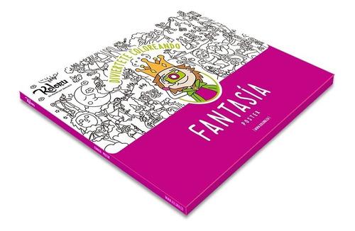 Póster Ciudad Fantasía Para Colorear - Afiche Gigante