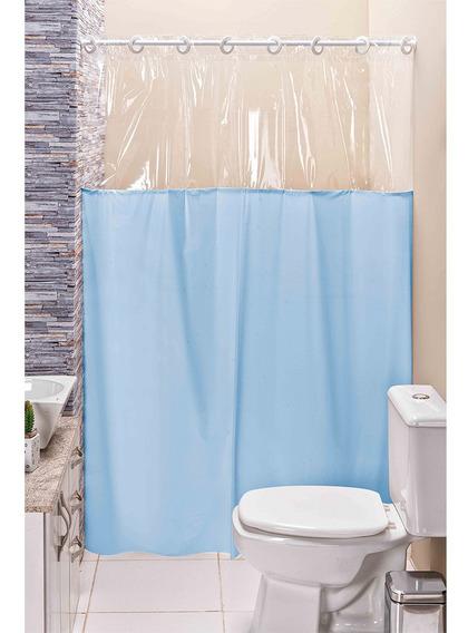 Cortina Eddi De Box Para Banheiro Liso 1,40m X 1,98m