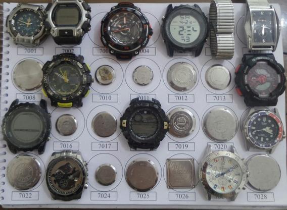 Lote 26 Sucatas Casio E Outros- Máquina Do Tempo
