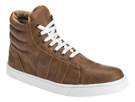 Zapatillas Botitas Hombre Casuales Moda Eco Cuero Importadas