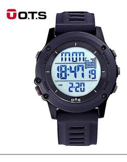 Reloj Táctico Sumergible Ots Original Luz Alarma Cronómetro