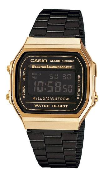 Relógio Casio Vintage Unissex Preto Digital A168wegb-1bdf