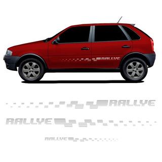 Adesivo Jogo Faixa Rallye Gol G4 06/08 Prata