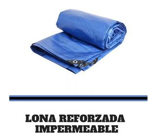 Lona Azul Reforzada Impermeable 3mts X 3mts Lion Tools 8302