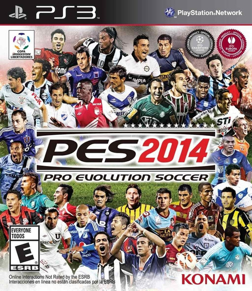 Jogo Playstation 3 Pes 2014 Ps3 Novo Lacrado