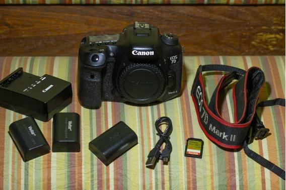 Câmera Dslr Canon 7d Mark Ii Usada Corpo