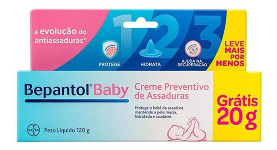 Bepantol Baby Creme Para Prevenção De Assaduras 120g