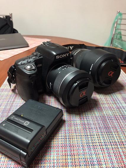 Sony A580 + 2 Lentes + Mochila De Câmera + Carregador