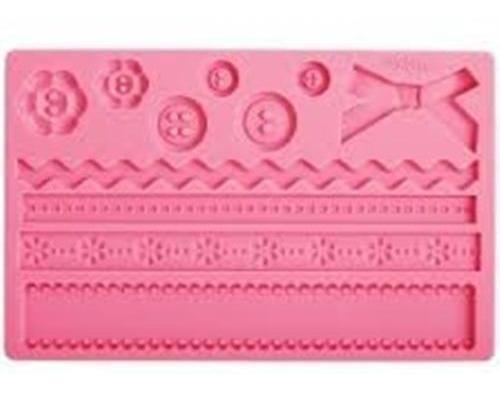Molde De Silicone Laço (rosa)