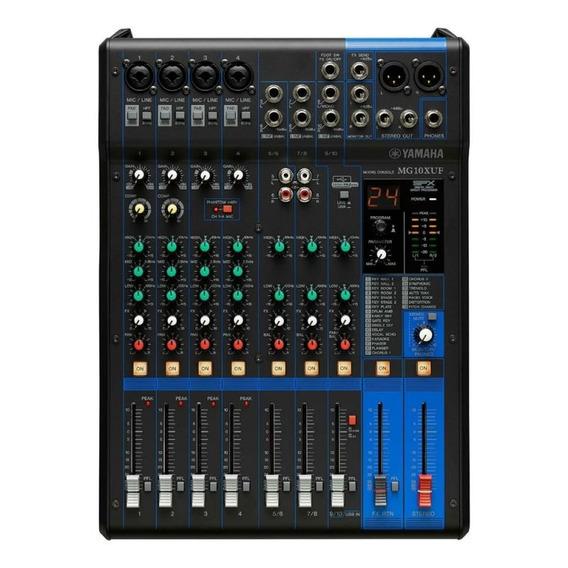 Mesa De Som Yamaha Mg10xuf - 10 Canais Com Efeitos 110v
