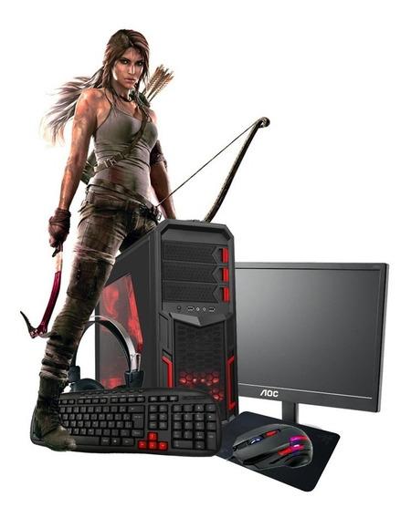 Pc Gamer A8 9600 3.4ghz 10núcleos Ddr4 16gb R7 4k Monitor Lg