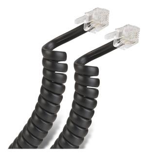 Cable Espiral Plug A Plug Rj9 2.1m Para Teléfono 302-007n
