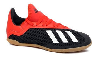 Tênis Futsal Infantil adidas X 18.3 Bb9395 Preto/vermelho