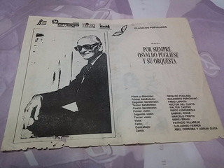 Programa Por Siempre Osvaldo Pugliese Municipal San Martin