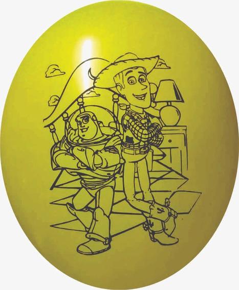 30 Globos Impresos Toy Story 12 Pulg+2 Buzz Metalizado