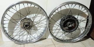 Par De Rodas Moto Honda Completa Raiada Cg Titan Fan 150 125