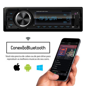 Auto Radio Mp3 Player Fm Carro Bluetooth Usb Sd Controle Nfe
