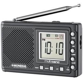 Rádio Portátil Diplay Digital Am/fm Multi Bandaii Mondial