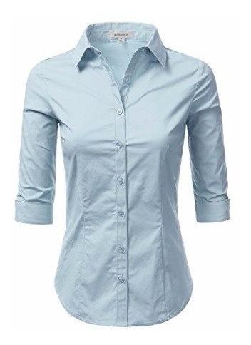 Camisa Social Feminina 3/4 Slim Noblemen