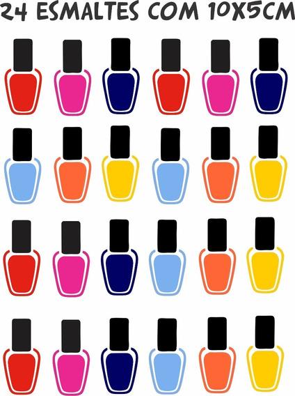 Adesivo Parede Salão Beleza Manicure Kit Esmalte Unhas