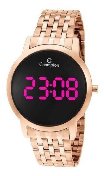Relógio Digital Champion Rosê Feminino Led Rosa Ch40099z