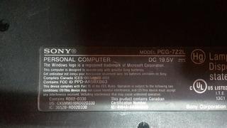 Sony Vgn-nr110e Para Repuestos