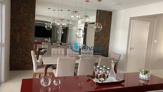 Lindo Apartamento Porteira Fechada Com 3 Dormitórios À Venda, 122 M²- Splendor Garden - São José Dos Campos/sp - Ap2104
