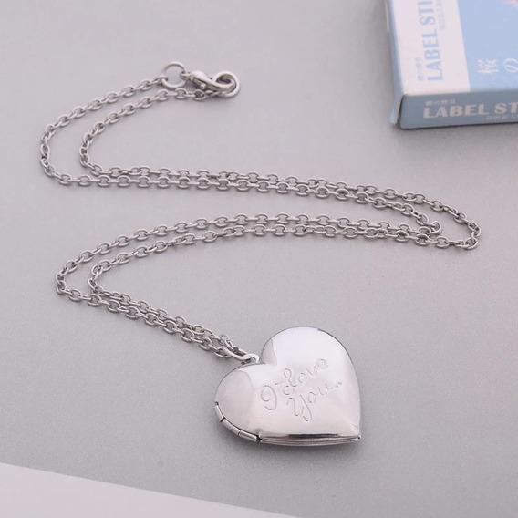 Collar Camafeo Relicario Corazón 2 Fotos