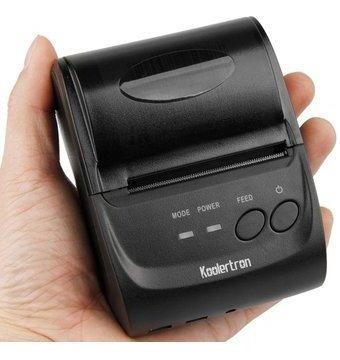 Impresora Portatil Bluetooth Termica De 58mm Negra En Oferta
