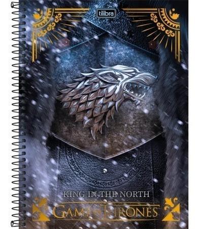 Caderno Game Of Thrones 10 Materias 200 Folhas Tilibra