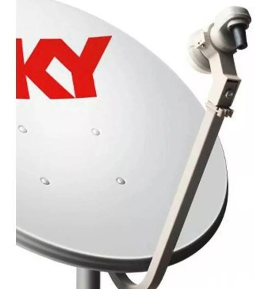 2 Antenas 60cm Ku 2 Lnbs Simples Cabo E Conector