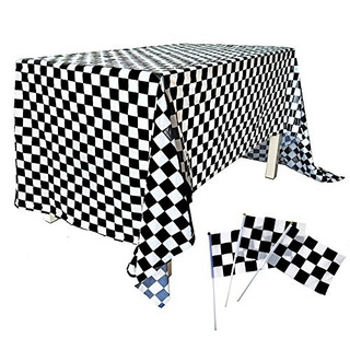 51 Pack Checkered Flag Racing Hand Held Stick Black & White