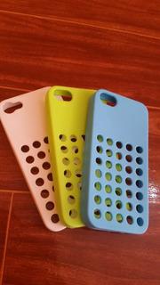 Capinha Emborrachada Para Iphone 5g/5s (3 Cores Disponíveis)