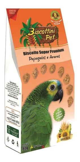 Biscoito Biscottini Pet Super Premium Papagaios E Araras 80g