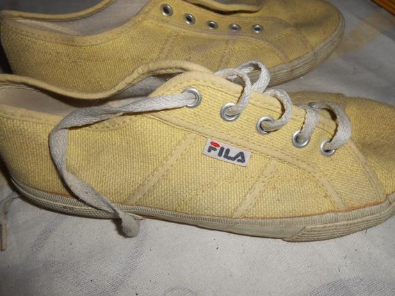 Zapatillas Fila Amarillas Muy Lindas