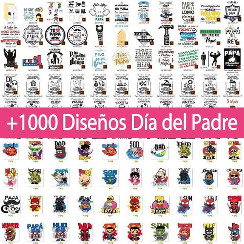 +1000 Plantillas Dia Del Padre Tazas, Franelas, Almohadas