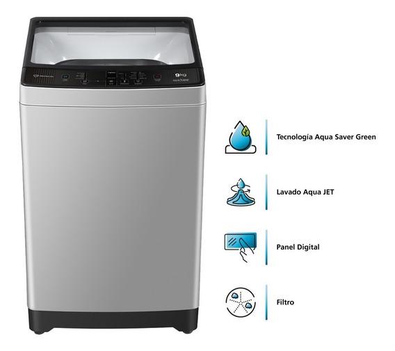 Lavadora Automática Digital De 9kg Gris Mabe Lma9020wgab0