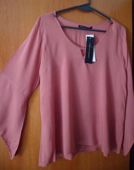 Cuesta Blanca Remera Con Etiquetas Color Rosa Viejo