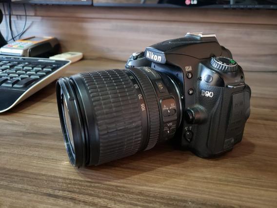 Nikon D90 Lente Kit 18-105 Otimo Estado