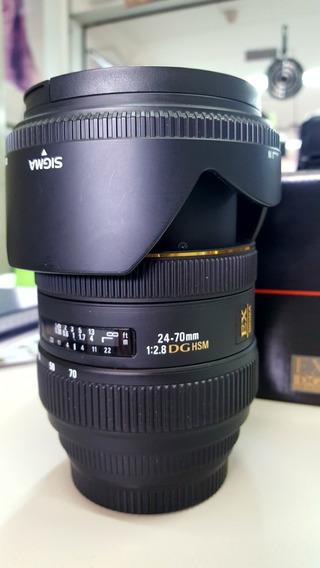 Objetiva Lente Sigma 24-70mm F2.8 Para Canon