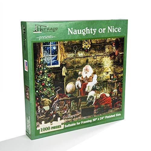 Naughty Or Nice 1000 Piece Santa Claus Navidad Rompecabezas